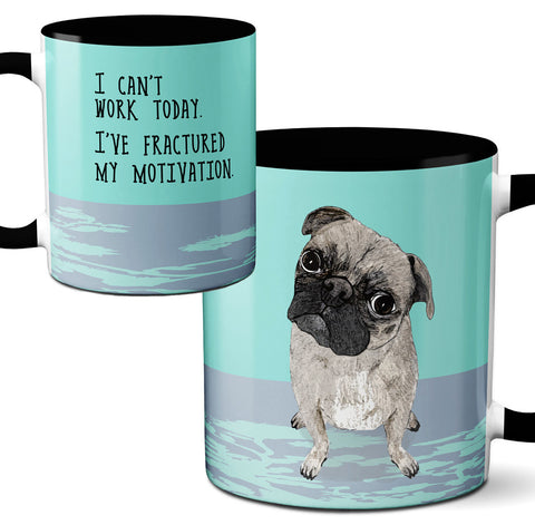 Motivated Pug Mug by Pithitude