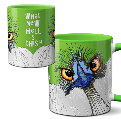 New Hell Ostrich Emu Green Mug