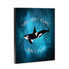 Orca Whale Way 8x10 Wood Block Print