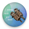 Sea Otters Holding Hands Magnet