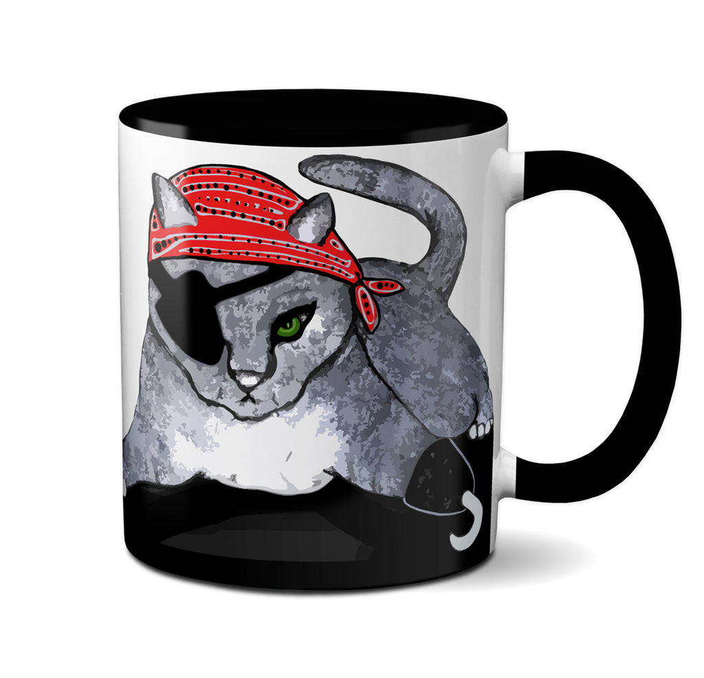 Pirate Cat Mug by Pithitude