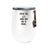 Pirate Dog 12oz Stemless Insulated Stainless Steel Wine or Coffee Tumbler