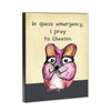 Queso Mouse 8x10 Wood Block Print