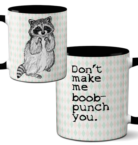 Racoon Boob Punch Mug by Pithitude