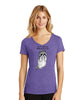 Racoon Boob Punch Womens V-neck T-Shirt