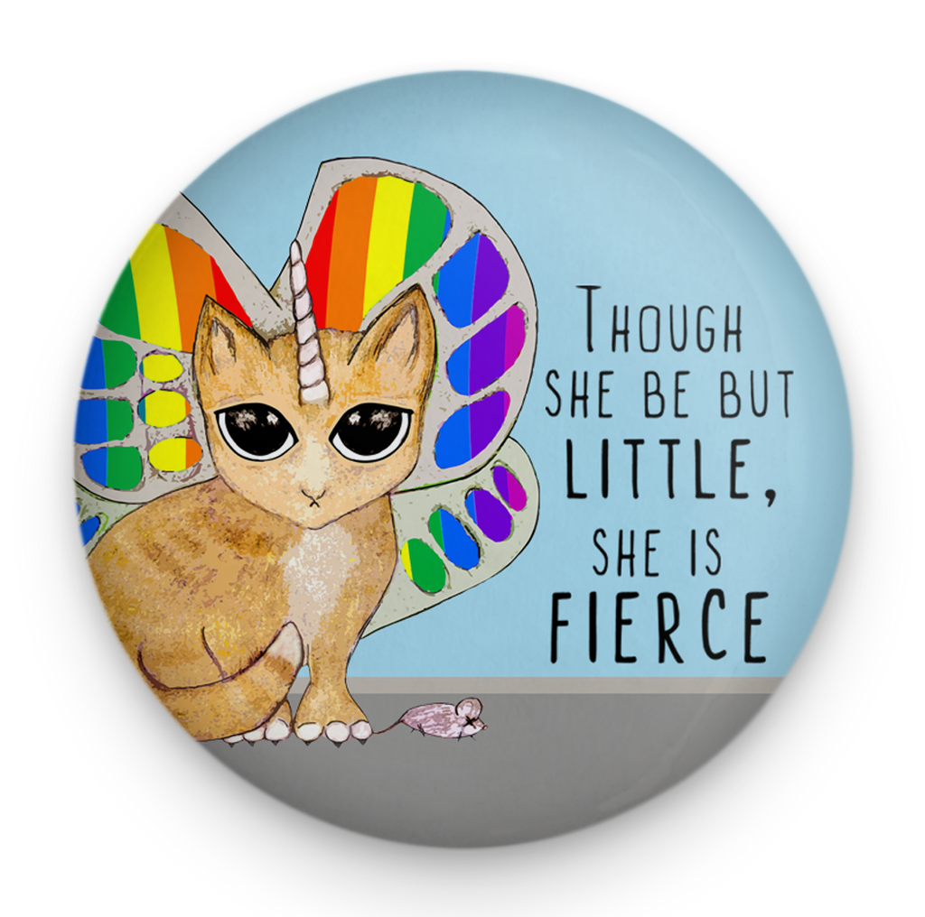 Rainbow Butterfly Unicorn Kitty Magnet