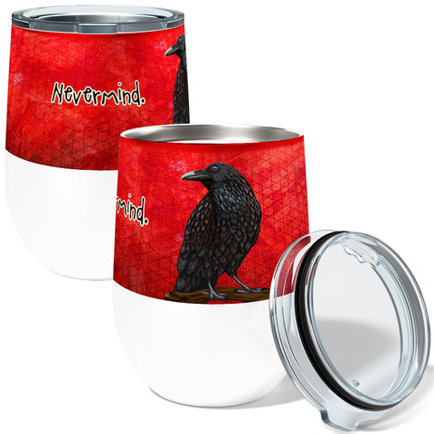 Raven Nevermind 12oz Stemless Insulated Stainless Steel Wine Tumbler