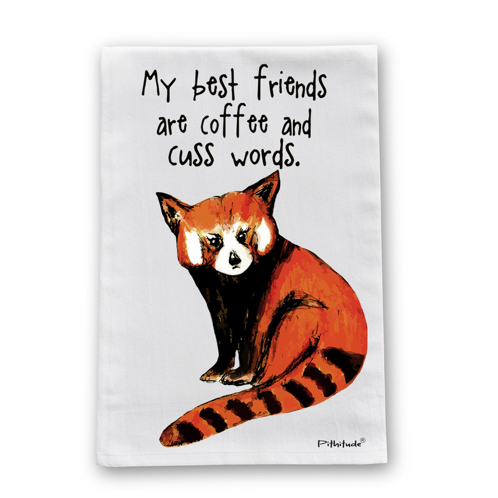 Red Panda Best Friends Flour Sack Dish Towel