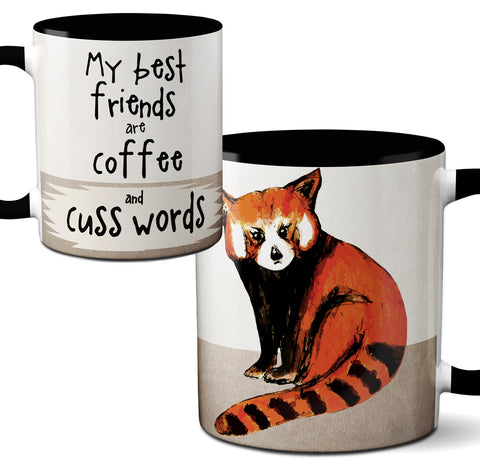 Red Panda Cussing Mug by Pithitude