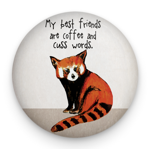 Red Panda Friends Magnet
