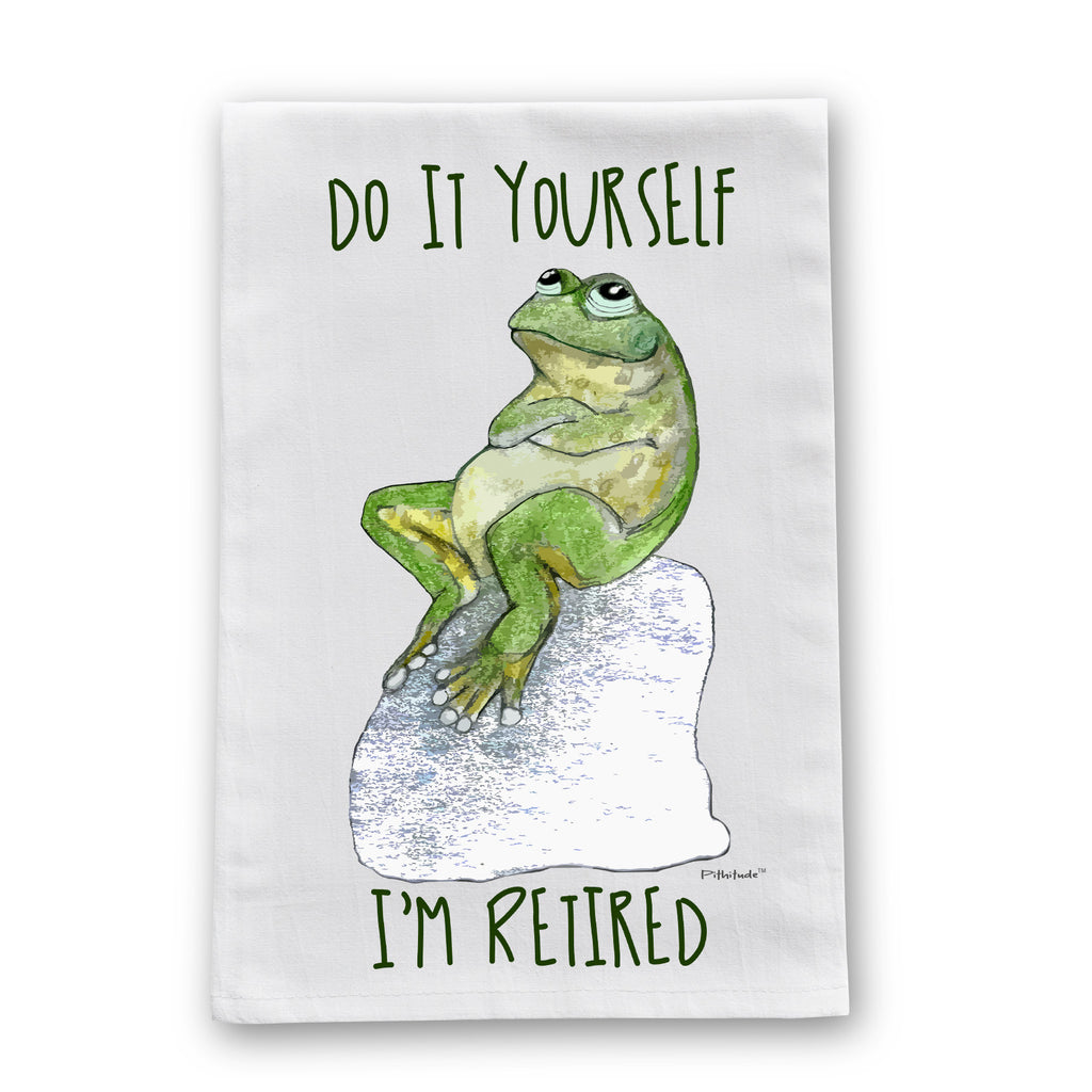 Retired Frog Flour Sack Dish Towel