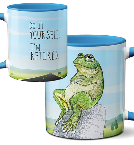 Retired Frog Blue Mug by Pithitude