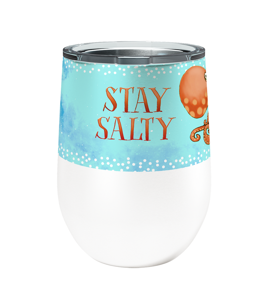 Salty Octopus 12oz Stemless Insulated Stainless Steel Wine Tumbler