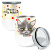 Sassy Cat 12oz Stemless Insulated Stainless Steel Wine Tumbler