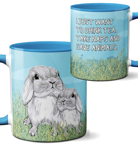 Save Animals Bunny Mug by Pithitude