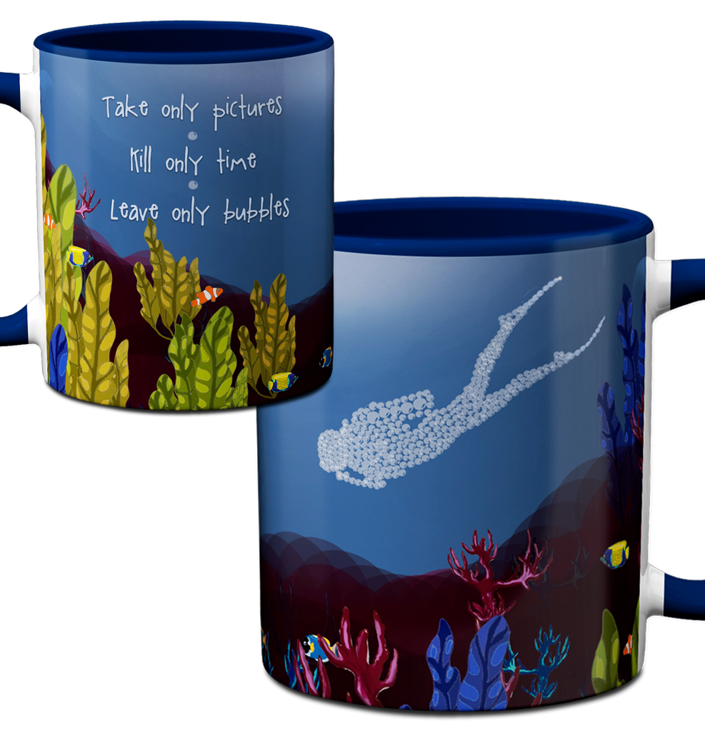 Scuba Bubbles Mug by Pithitude