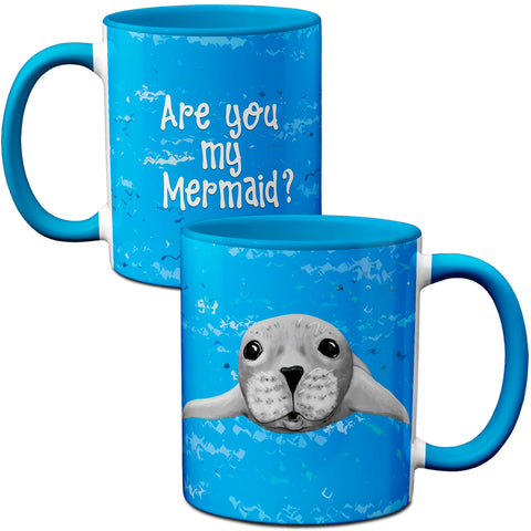 Seal Mermaid Coffee Mug by Pithitude