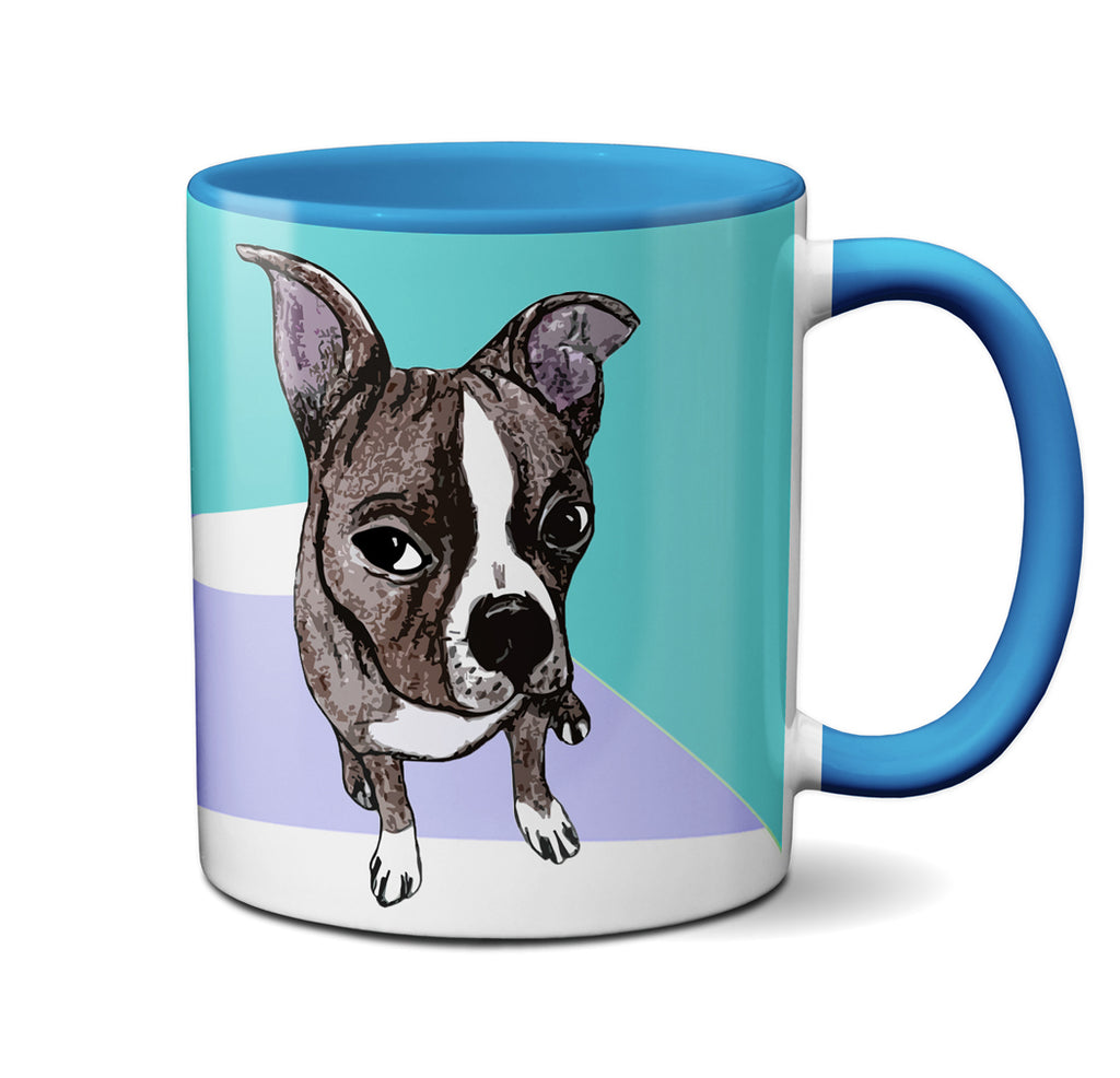 Brown Boston Terrier Sedation Mug by Pithitude