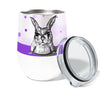Rabbit Shoe Laces 12oz Stemless Insulated Stainless Steel Wine or Coffee Tumbler