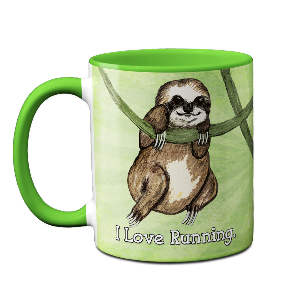 Sloth Loves Running Napping Mug