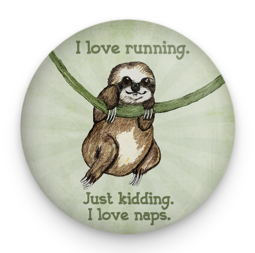 Sloth Running Magnet