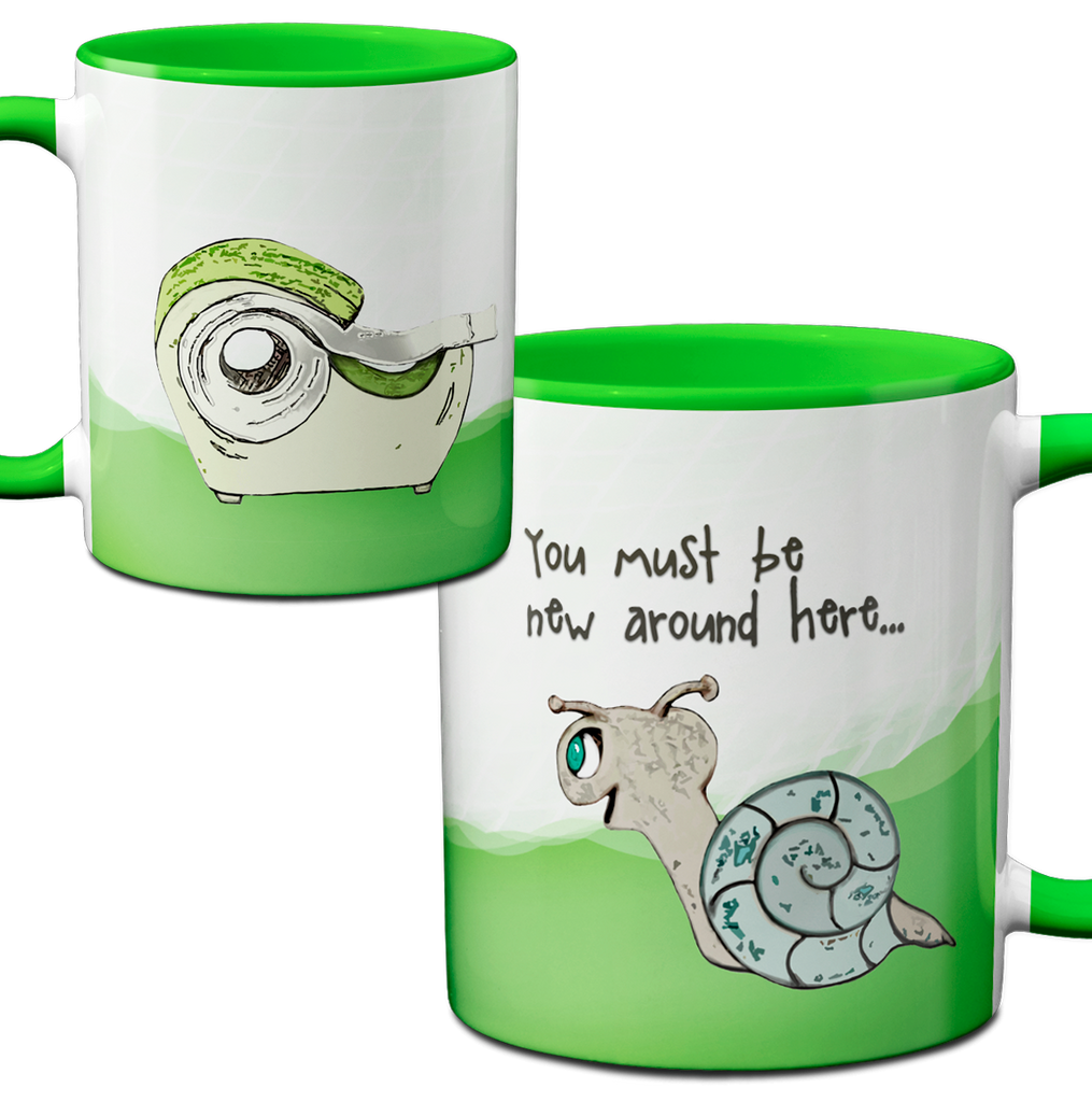 Snail Meets Tape Green Mug