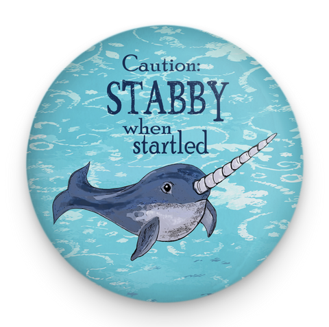 Stabby Narwhal Magnet