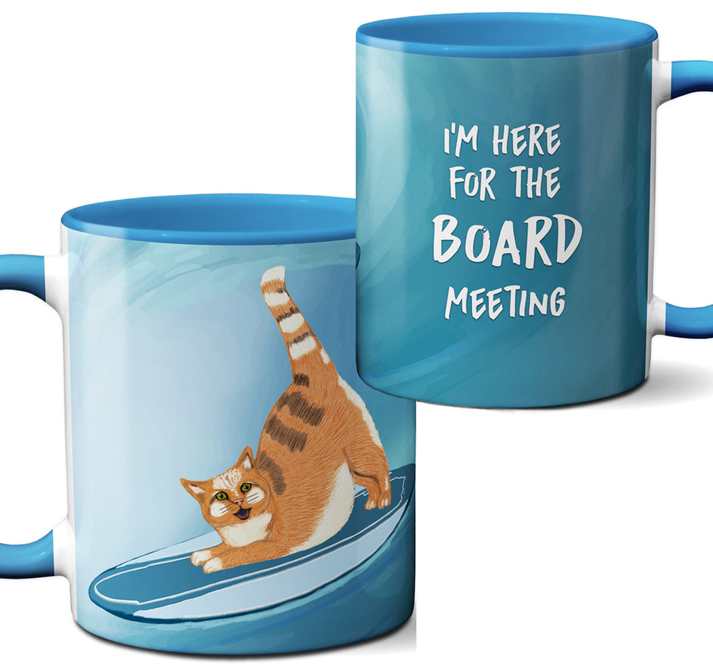 Surfing Cat Mug by Pithitude