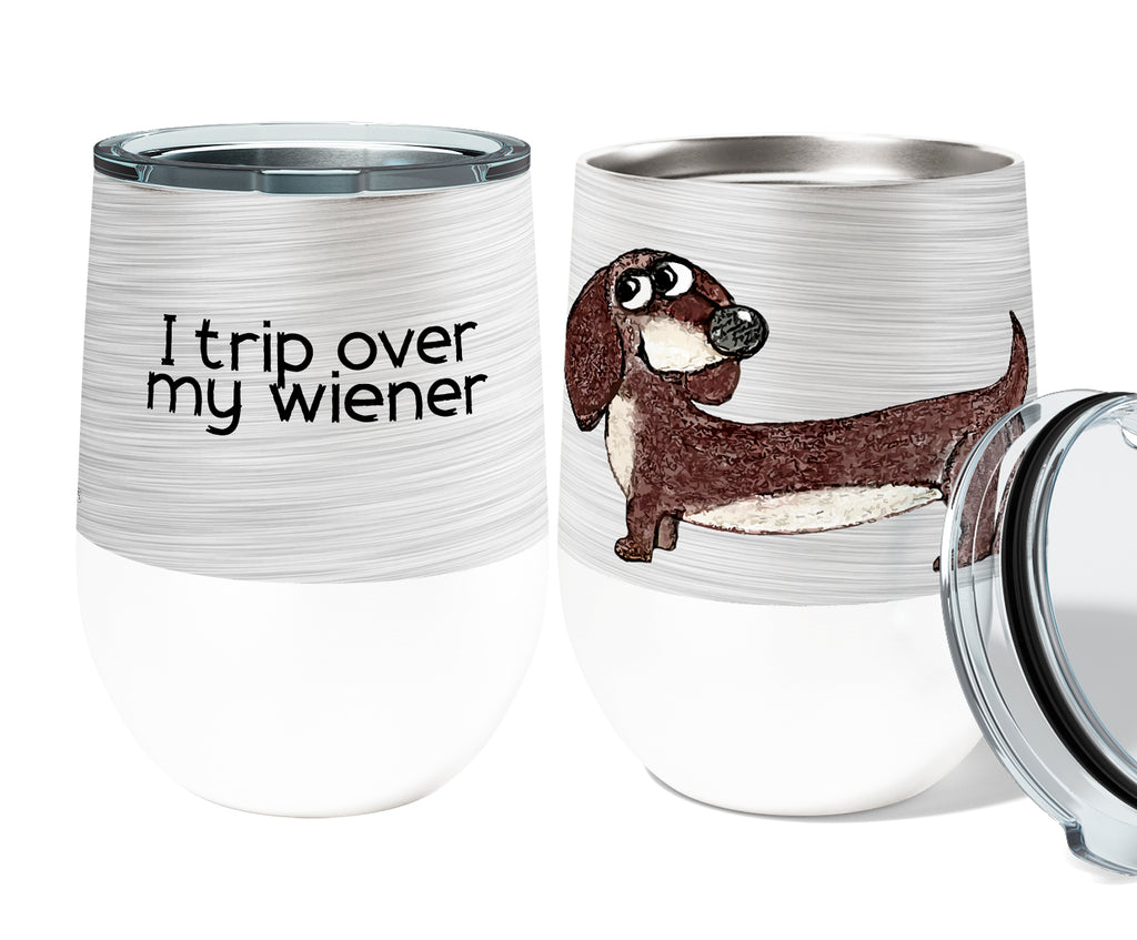 Wiener Trip 12oz Stemless Insulated Stainless Steel Wine Tumbler