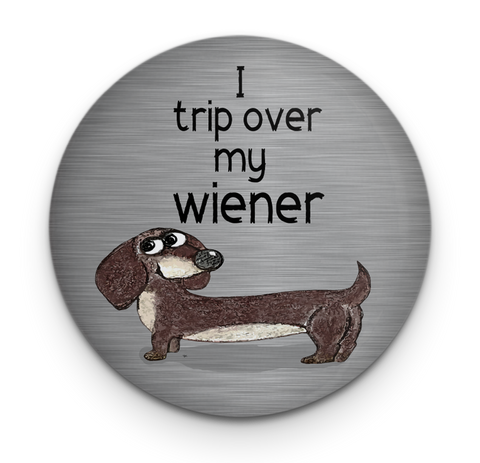 Wiener Dog Tripping Dog Magnet