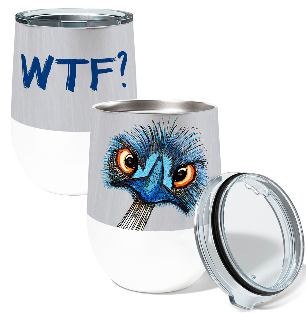 WTF Emu 12oz Stemless Insulated Stainless Steel Wine Tumbler