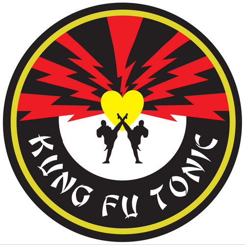 kung fu tonic round sticker
