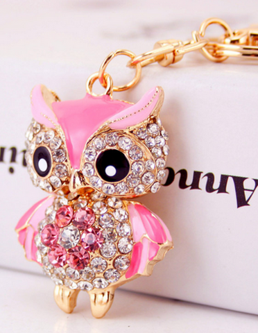 Sasha creative new car decorations key ring color cute owl -  New Fashion Finds By Carole