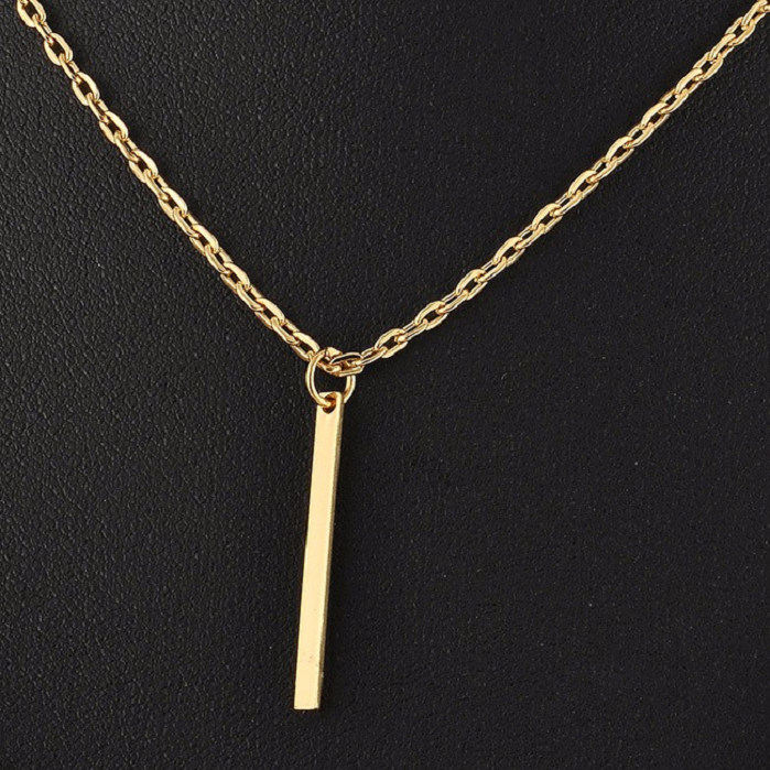 Layered Long Necklace Double Layer Bar Stick Necklace & Pendants -  New Fashion Finds By Carole