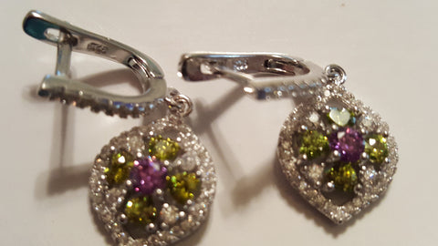 Swarovski Gem Earrings -  New Fashion Finds By Carole