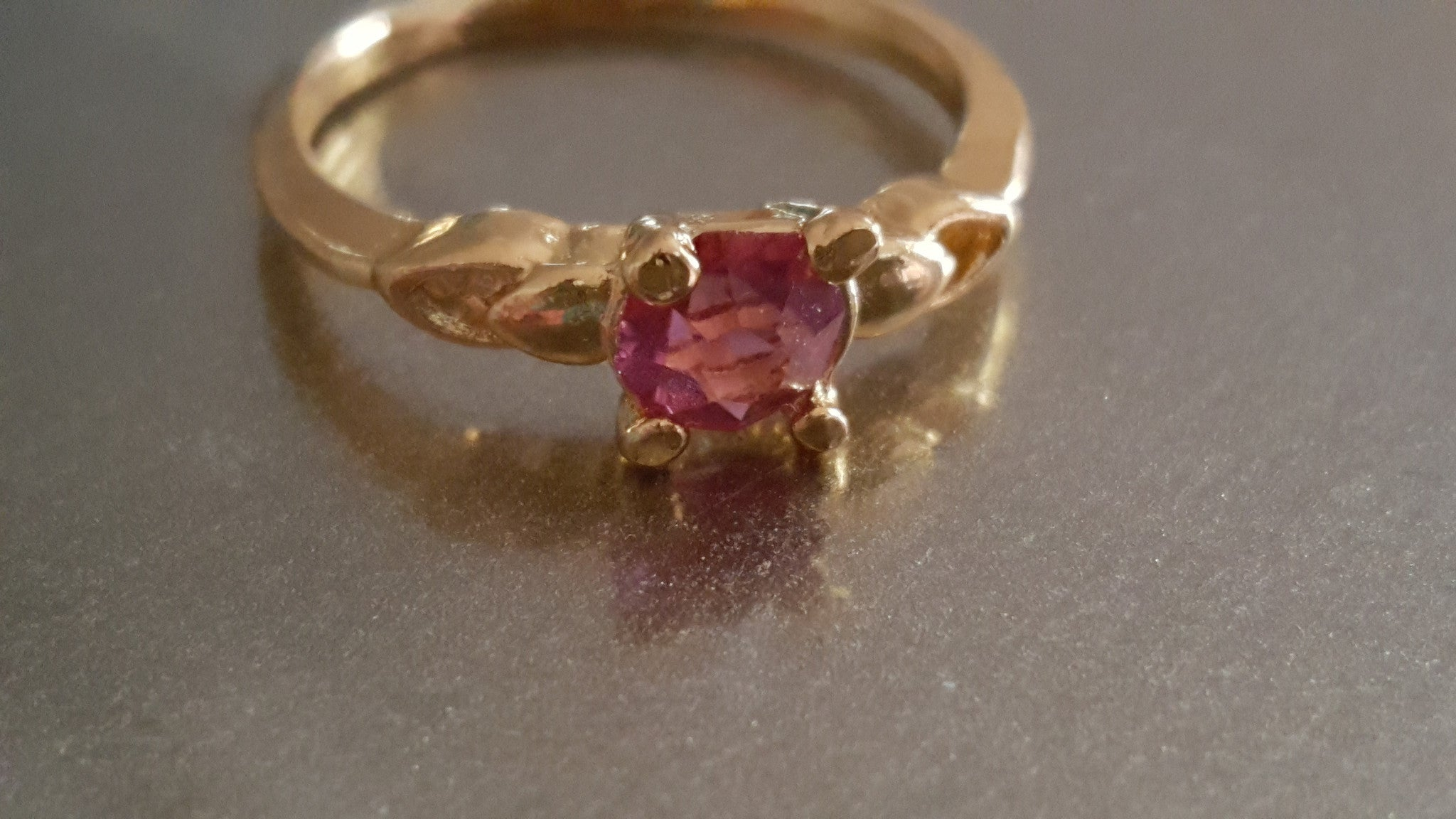 Pink Sapphire Gold Ring -  New Fashion Finds By Carole