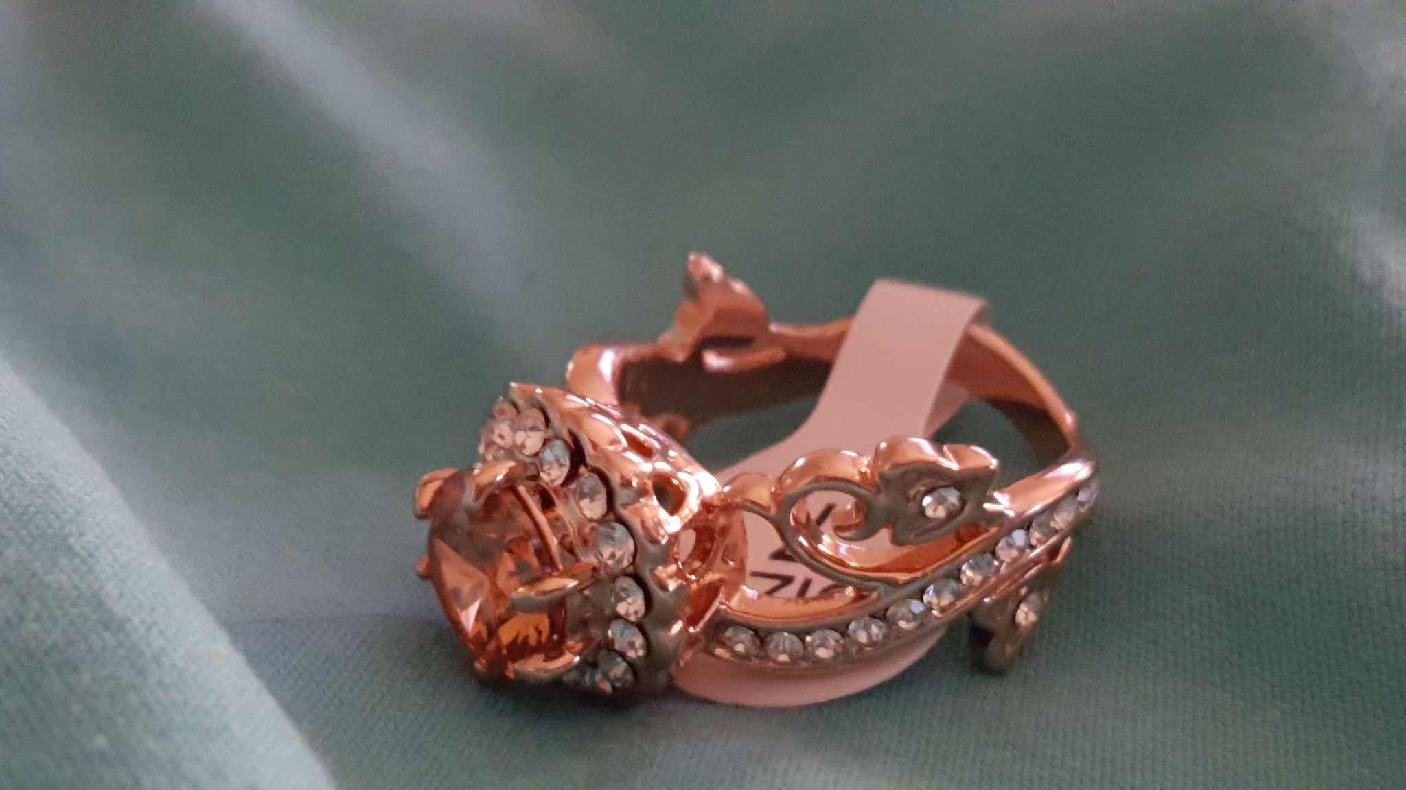Rose Gold Plated beautifully adorned ring. -  New Fashion Finds By Carole