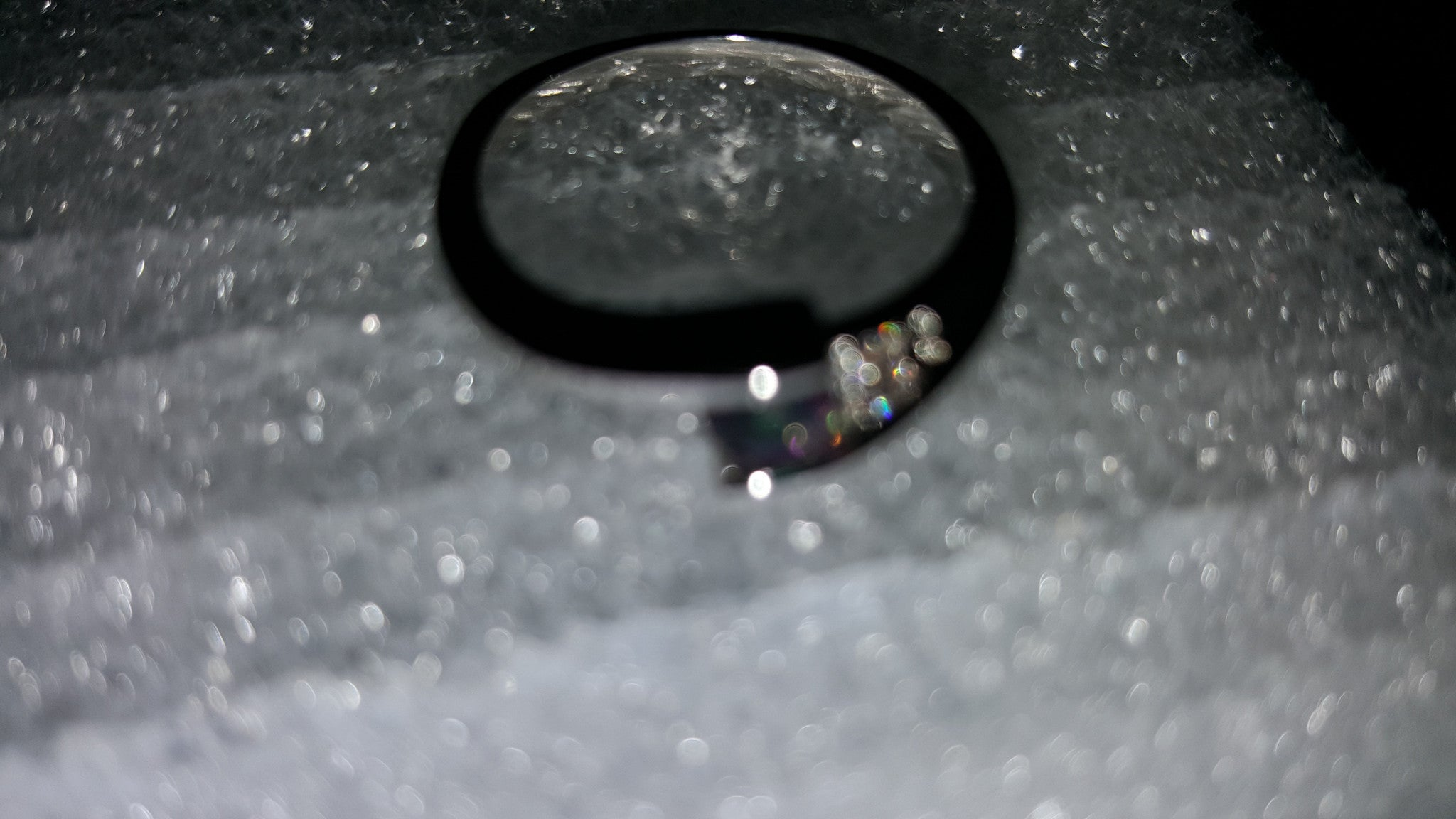Sterling silver plated, delicate ring with a Swarovski crystal. -  New Fashion Finds By Carole