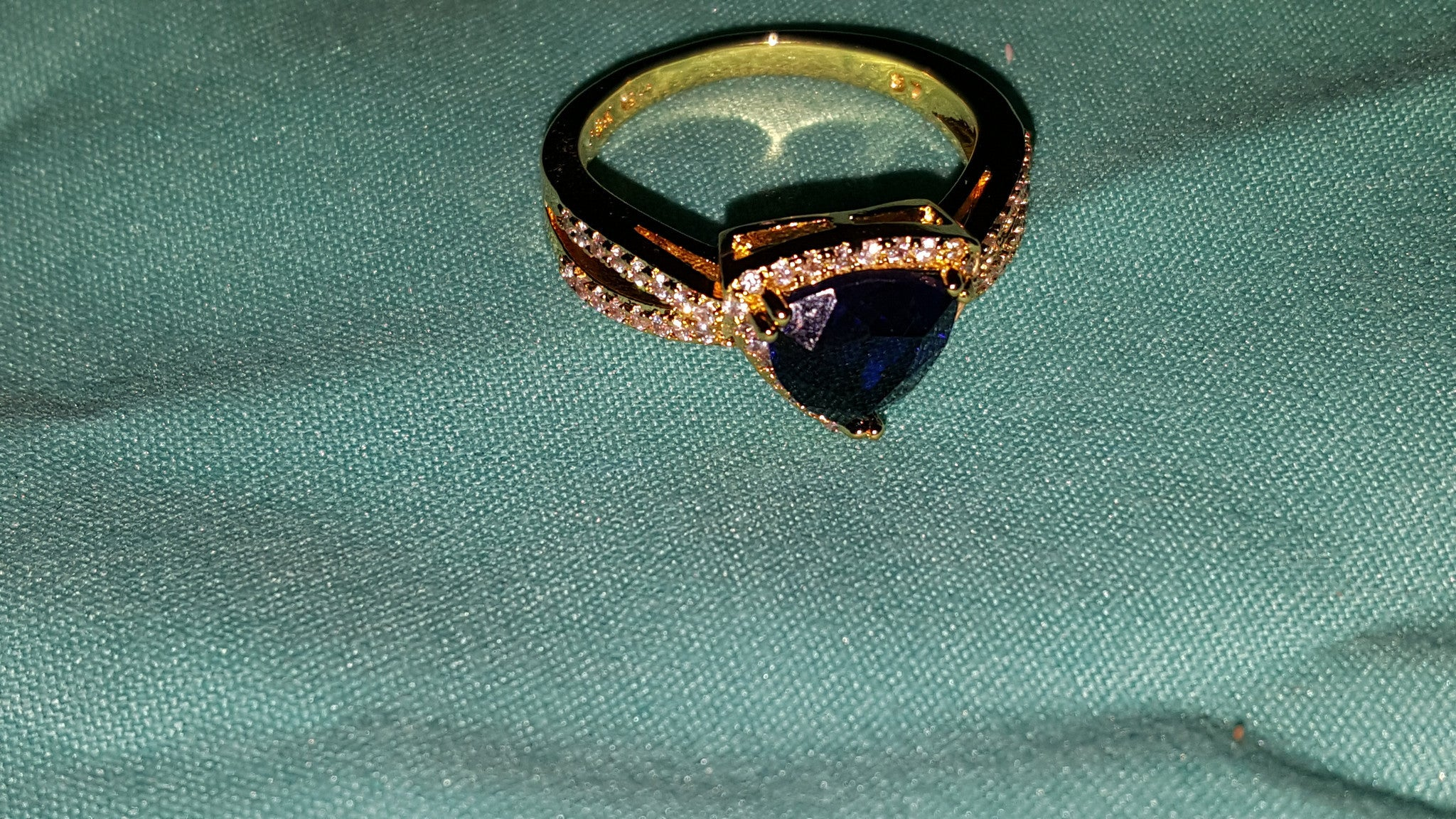 Pear-Cut Sapphire & Silver Ring -  New Fashion Finds By Carole