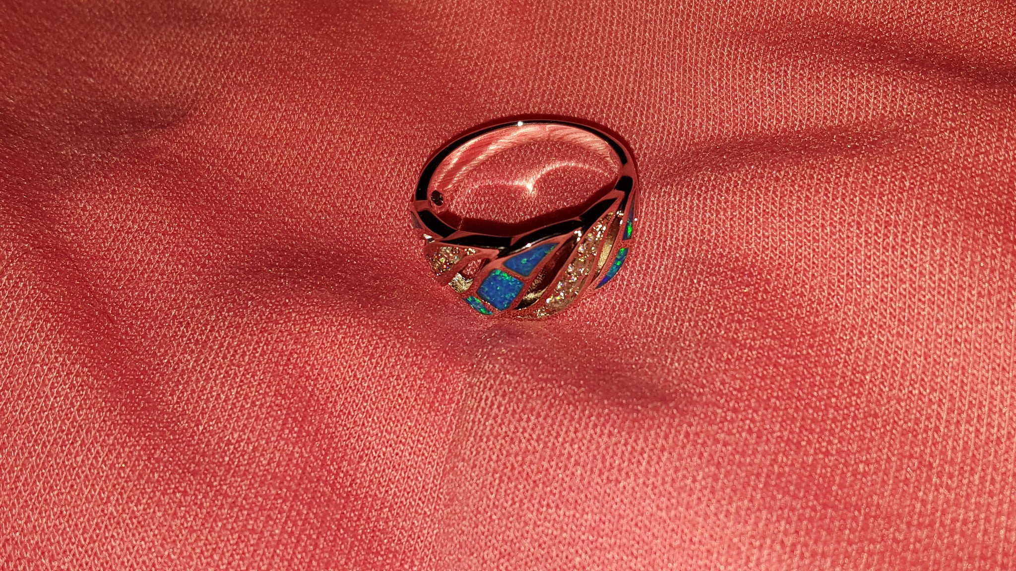 Opal Sterling Silver Ring -  New Fashion Finds By Carole
