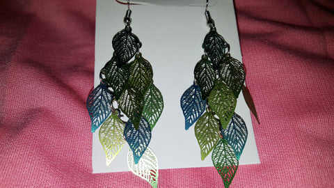 Cool Multi-Tone Leaf Earrings -  New Fashion Finds By Carole