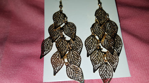 Bold Multi-Leaf Earrings -  New Fashion Finds By Carole