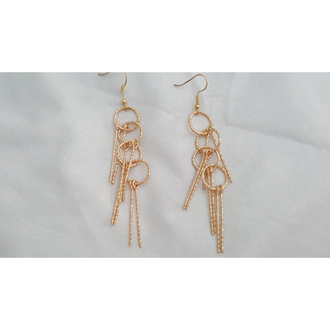 18k Gold Plated unique dangle earrings -  New Fashion Finds By Carole