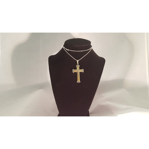 14K Solid Gold Fancy Textured Cross Pendant Necklace, Men -  New Fashion Finds By Carole