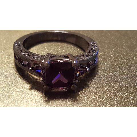 Amethyst Sterling Silver Ring with plenty of beauty and bling! -  New Fashion Finds By Carole