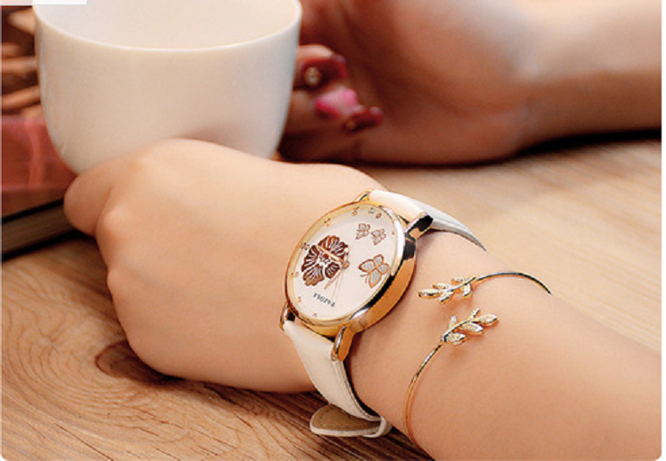 Women Fashion Exquisite Flower and Butterfly Quartz Watch -  New Fashion Finds By Carole