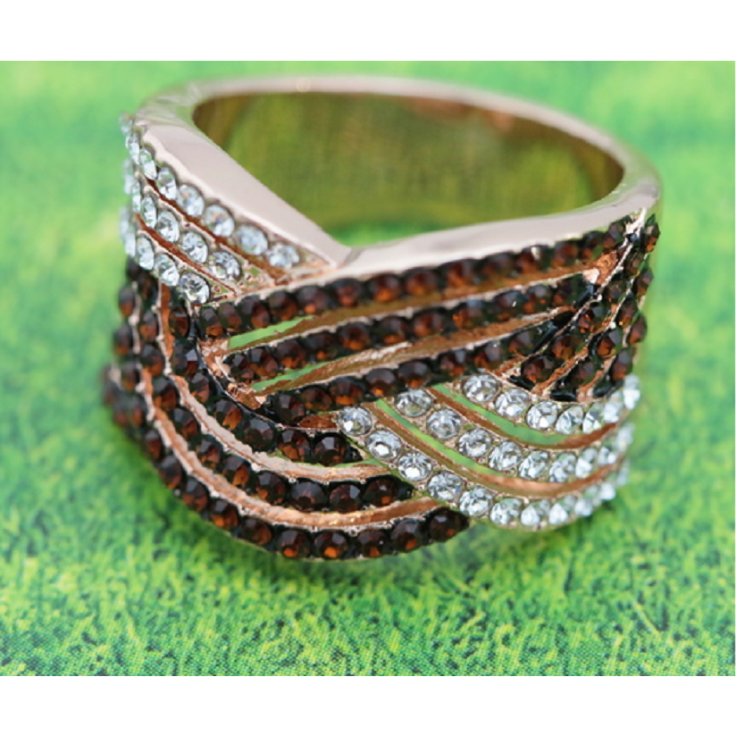 18K Rose Gold Plated Two Tone Statement Ring -  New Fashion Finds By Carole