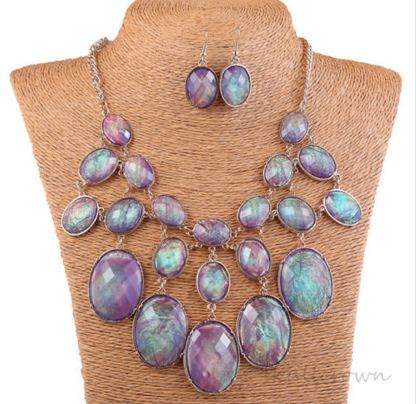 Statement necklace with earrings set. -  New Fashion Finds By Carole