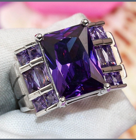 Sterling silver amethyst wedding ring -  New Fashion Finds By Carole