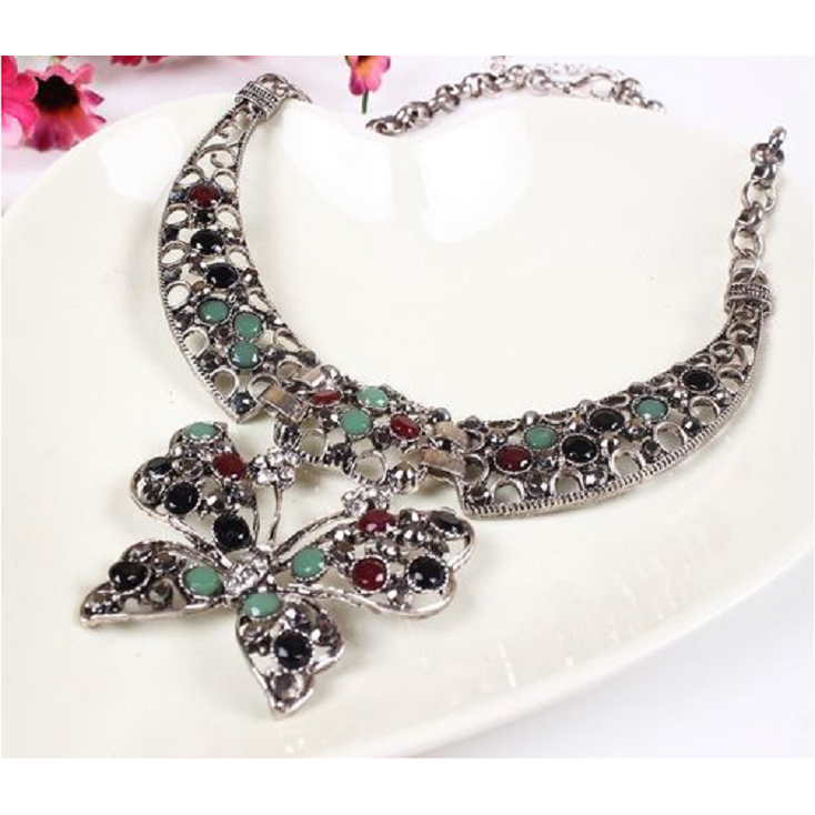 Beautiful Butterfly Collar Necklace -  New Fashion Finds By Carole